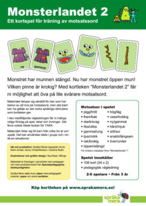 Produktblad kortspelet Monsterlandet 2