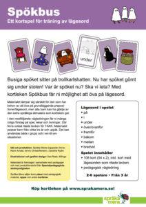 Produktblad kortspelet Spökbus