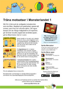 Produktblad appen Monsterlandet 2