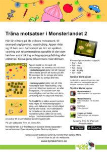 Produktblad appen Monsterlandet 2